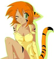 Tiger girl MS paint1 by Minami-05