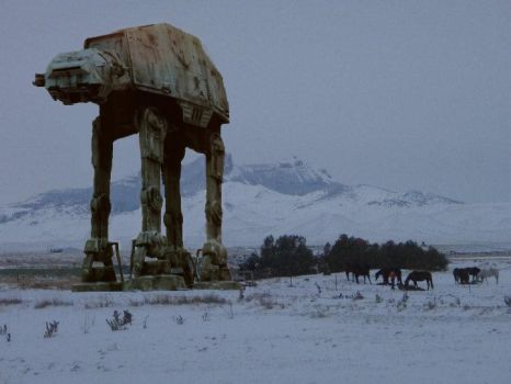 AT-AT at Heart Mountain by xTeknoWolfx