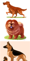 dogs dogs and dogs by ryuukuringo