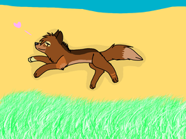 Rueben - Rolling in the sand by TheCrazyThingWH