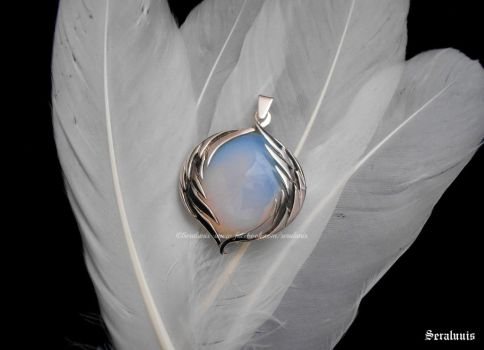 'Angel Soul', handmade sterling silver pendant by seralune