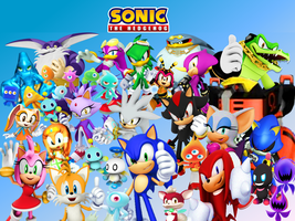 Sonic and Friends and Rivals Wallpaper by 9029561
