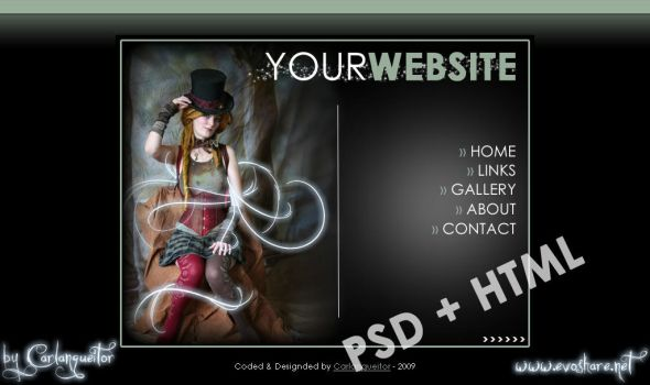 Elegant Website Template PSD by Carlangueitor