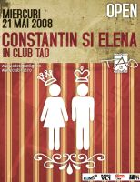 flyer ClubTAO- C-tin and Elena by semaca2005