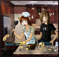 ..Let men into kitchen.. by x-holic