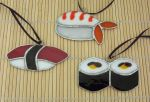stained glass sushi pieces by CindyCrowell