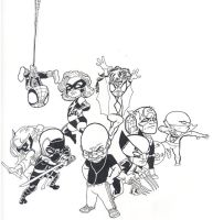 The new Little Awengers by AaronKuder