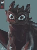 Toothless in #8 by Sushi-Arts