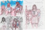 Merintosh and MeridaxMordu sketches 01 by MAD-Ina