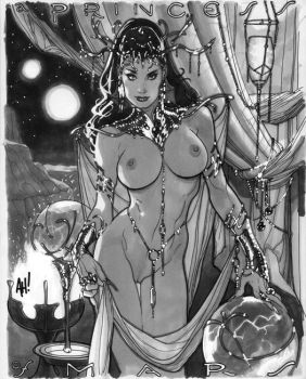Dejah Thoris Con Sketch by AdamHughes