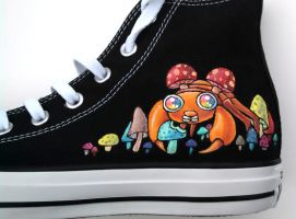 Glow in the Dark Painted Shoes Paras Converse