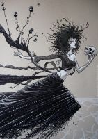 Death/expo FIQ/watercolor/inks by rogercruz