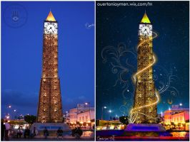 B/A--Clock Tower-Tunisia by Aymen-Ouertani