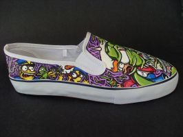 Futurama The Simpsons Crossover shoes -Wiggum by rachelliles352