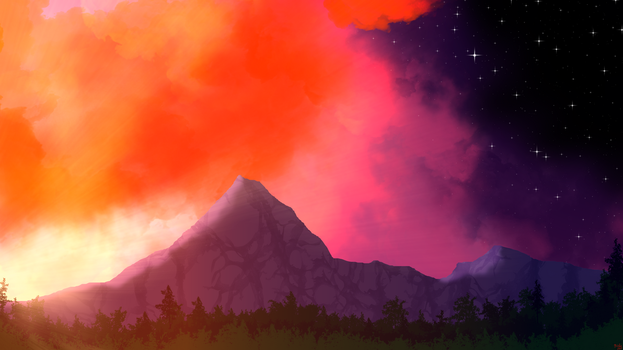 Sky Fire At Eventide by HydraNix