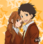 Natsume and Sasahara by WhitedoveHemlock