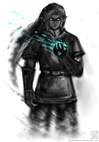 Dark Link Sketch by EternaLegend