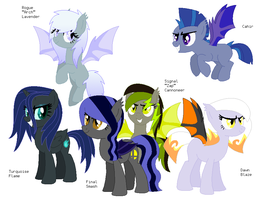 The Lunar Assassins (with names) by FinalSmashPony
