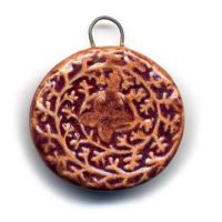 Vine Ceramic Charm by ChinookDesigns