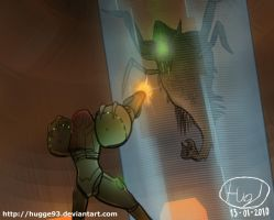 Samus vs Parasite Queen by Toxodentrail
