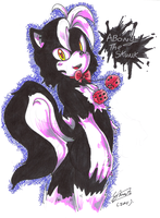 Abony the skunk_redraw by f-sonic