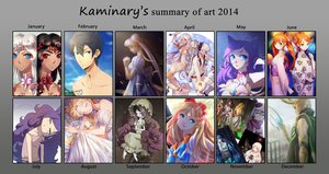 art summary 2014 by kaminary-san