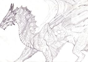Pencil Dragon by Stairwaytoelle