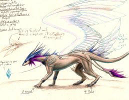 Dragonsona Reference (winged form) by ZeitgeistDragon