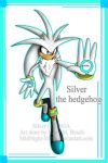 Silver the hedgehog by MidNight-Vixen