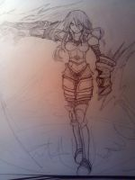 Ironscale Shyvana - sketch by Kinoukiri