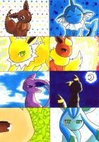 . eeveelutions . by nya-nannu