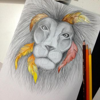Feathered Lion by Miilo18