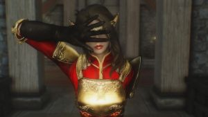 Skyrim: Lyna  - See no evil by haunted-passion