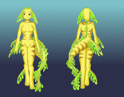 My leafy sea dragon girl by the-blackat