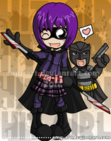 Hit Girl and Big Daddy - Kick Ass by amy-art
