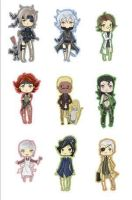 Metal Gear Solid 4 chibis by OtaconFanclub