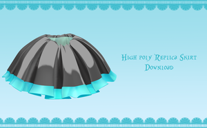 High-Poly Replica skirt [ DOWNLOAD ] by Aia-Aria