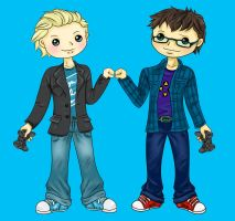 Tom and Jake Chibi by Blue-Fayt