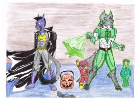 Raf, Wally  and Trevor go trick or treating by terceljr