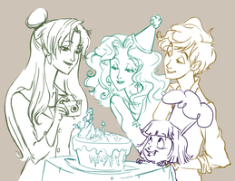 Happy Birthday Michiru! by debringles