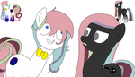 Noteface and Crinis by HazelCapulus