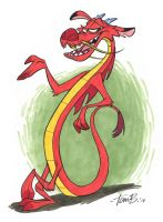 Mushu being chill by tombancroft