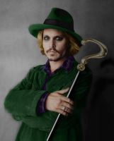 Johnny Depp as The Riddler by Zalkel000