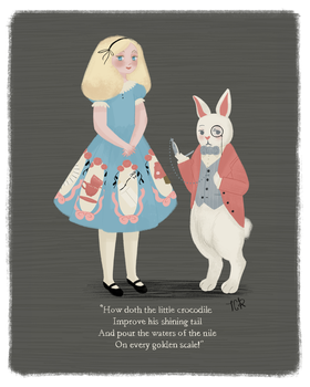 Alice and White Rabbit by tiachristine