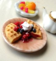 Waffles and Berries by fairchildart