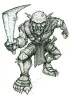 Orc Sketch 2 by VegasMike