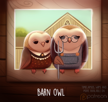 Daily Paint 1511. Barn Owl by Cryptid-Creations