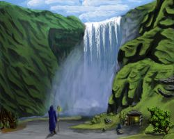 landscape practice water fall by JOVictory