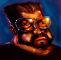 walter Sobchak Painted version by killmeded