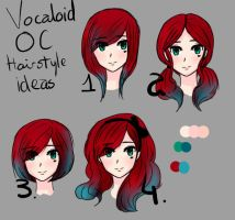 Vocaloid OC different hairstyle ideas by Andi-Tiucs
